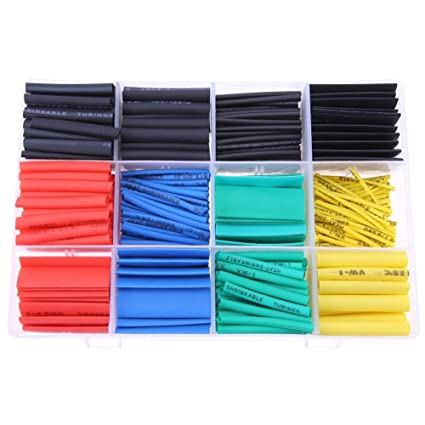 530pcs Heat Shrink Tube Insulated Sleeving Tubing Wrap Wire Cable Set With Box