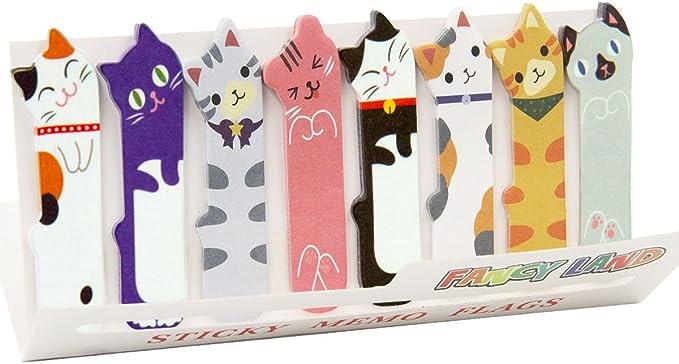 Cute cat sticky note bookmarks