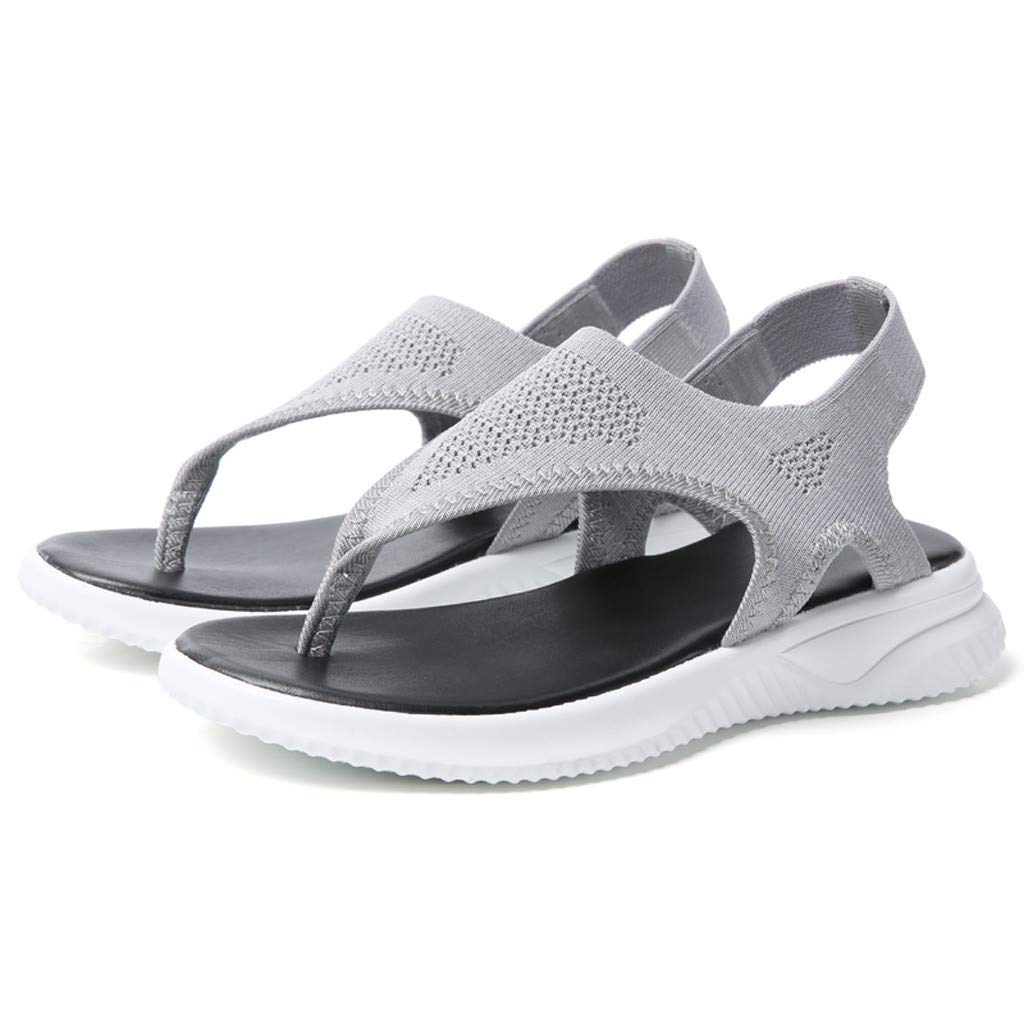 Women Thick Summer Flip Flop Shoes Clearance Sale, NDGDA Ladies Platform Roman Casual Flock Sandals by NDGDA Women Sandals (Image #8)