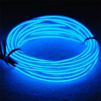 Amasawa Neon Light El Draht mit Akku Wasserdicht glühender Strobing ...