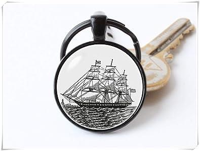 Llavero con diseño de Barco de Vela, Llavero de Barco ...