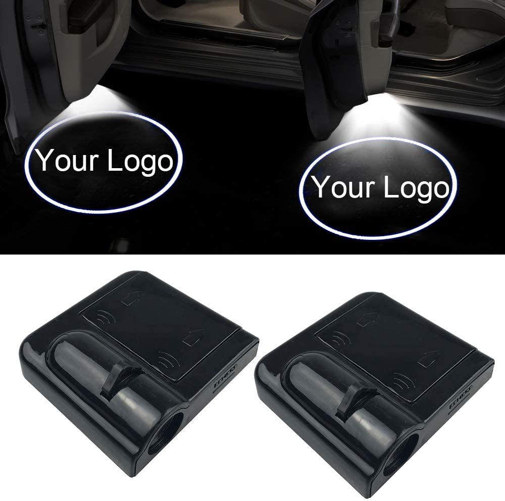 No Drill Type Logo Light Ghost Shadow Light Lamp PATRICON 2-Pack Wireless Car Door Led Welcome Light Projector for Honda Accessory Size 2