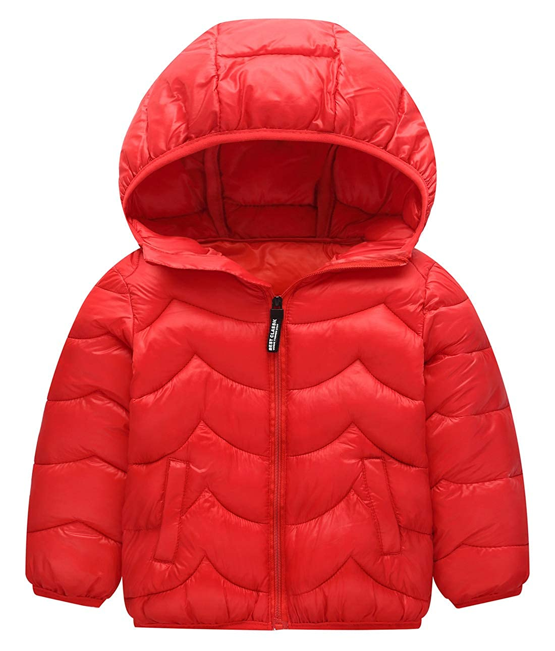 Happy Cherry Baby Boys Girls Hooded Cotton Coat Windproof Thick Jacket Outwear
