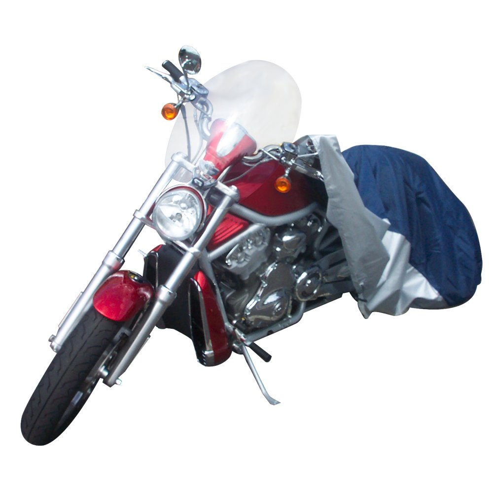 Budge Sportsman Motorcycle Cover Waterproof Fits Motorcycles up to 96'' Long (Black, Polyester)