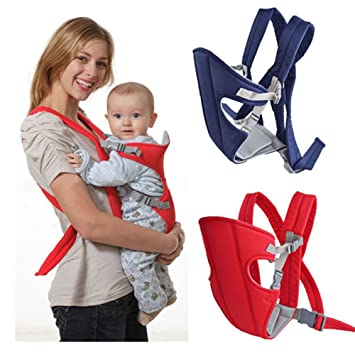 c8ceca40c95 Amazon.com   CdyBox Adjustable Infant Baby Carrier Newborn Kid Sling Wrap  Front Back Rider Backpack Pouch Bag Original Ultralight Miracle (Blue)    Baby