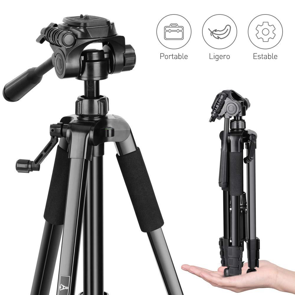 Trípode de Cámara - Trípode Completo de 151cm para Canon Sony Nikon, Trípode Compacto Puede