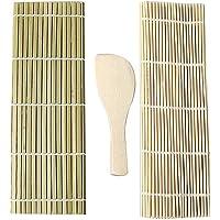 J Jixista Kit de Sushi de bambú Herramientas