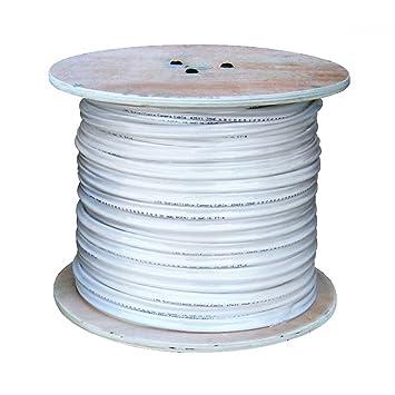 ltac2030 W salida coaxial cable siamés con conectores – 500 ft blanco