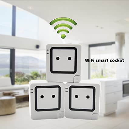 Wifi smart socket outlet plug, work with phone, ipad, android can