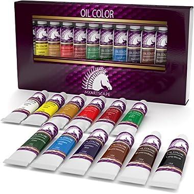 Oil Paint Set - 12ml x 12 - Art Paints - Artist Quality - MyArtscape