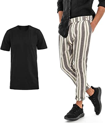 Giosal Outfit Conjunto De Camisa De Lino Para Hombre