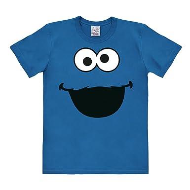 Logoshirt Barrio Sésamo - Monstruo de Las Galletas Cara Camiseta - Azul -  Diseño Original con Licencia  Amazon.es  Ropa y accesorios 21ccf7f1897