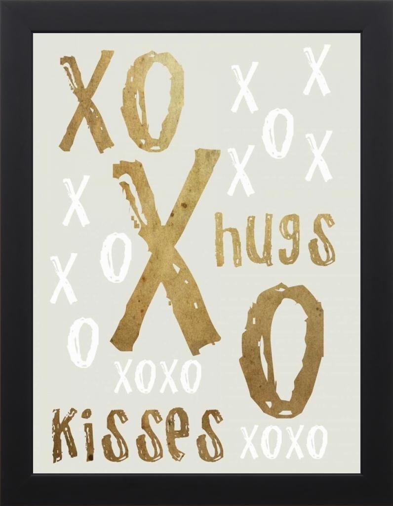 18x24 Hugs and Kisses Gold by Lewis, Sheldon: Studio Black SLB-RC-465B