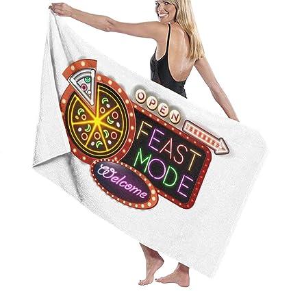0f6f875df5 Amazon.com  Pizza Lover Thanksgiving Feast Mode Prints Bath Towel ...
