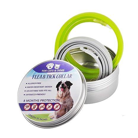 Bbl345dLlo Collar Ajustable para Mascotas, 2 Piezas, Collar Ajustable para Mascotas con Mosquitos antipulgas