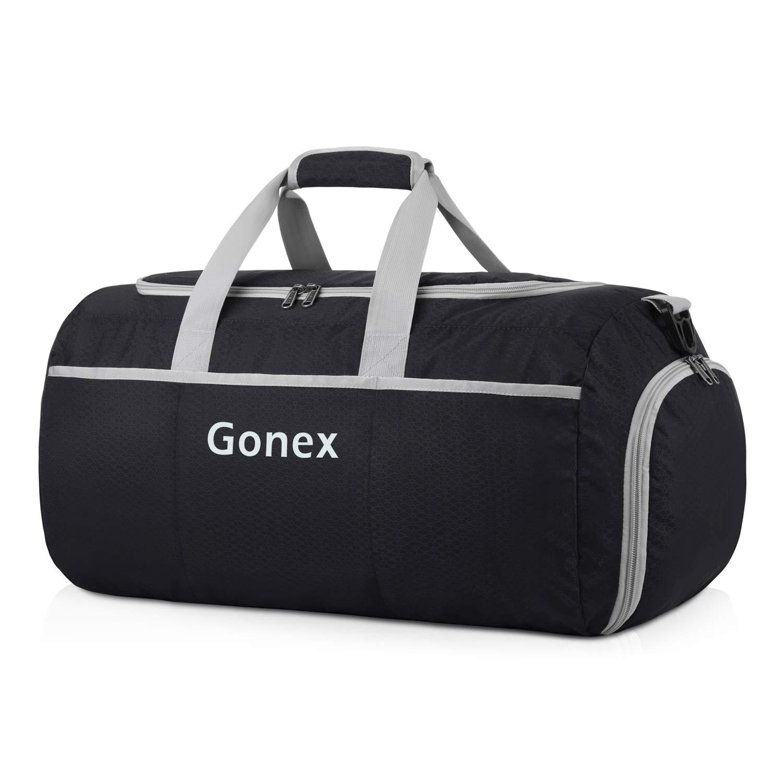 Gonex Foldable Duffel Sports Duffle New Version 70L Black