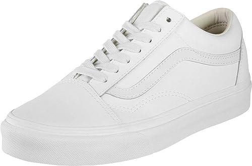 3e725fbc91 Vans Unisex Shoes Old Skool (Vansbuck) Blanc De Blanc Leather Sneakers (5.5  D
