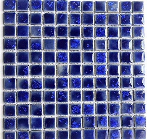 1x1 Sad Shimmering Glossy Finish Porcelain Mosaic Tile Backsplash Shower Pool