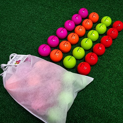 Poker Face 2 Piece Color Golf Ball Just Released New Brand Red Pink Neon Green Orange Bulk