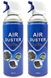 400ml Multi-Purpose Compressed Air Duster Cleaner (2PACK)