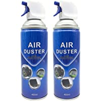 Air Duster Compressed Cleaner Spray Laptop PC Keyboard Camera Lens 2/4 Pack (2 Pack-Blue)
