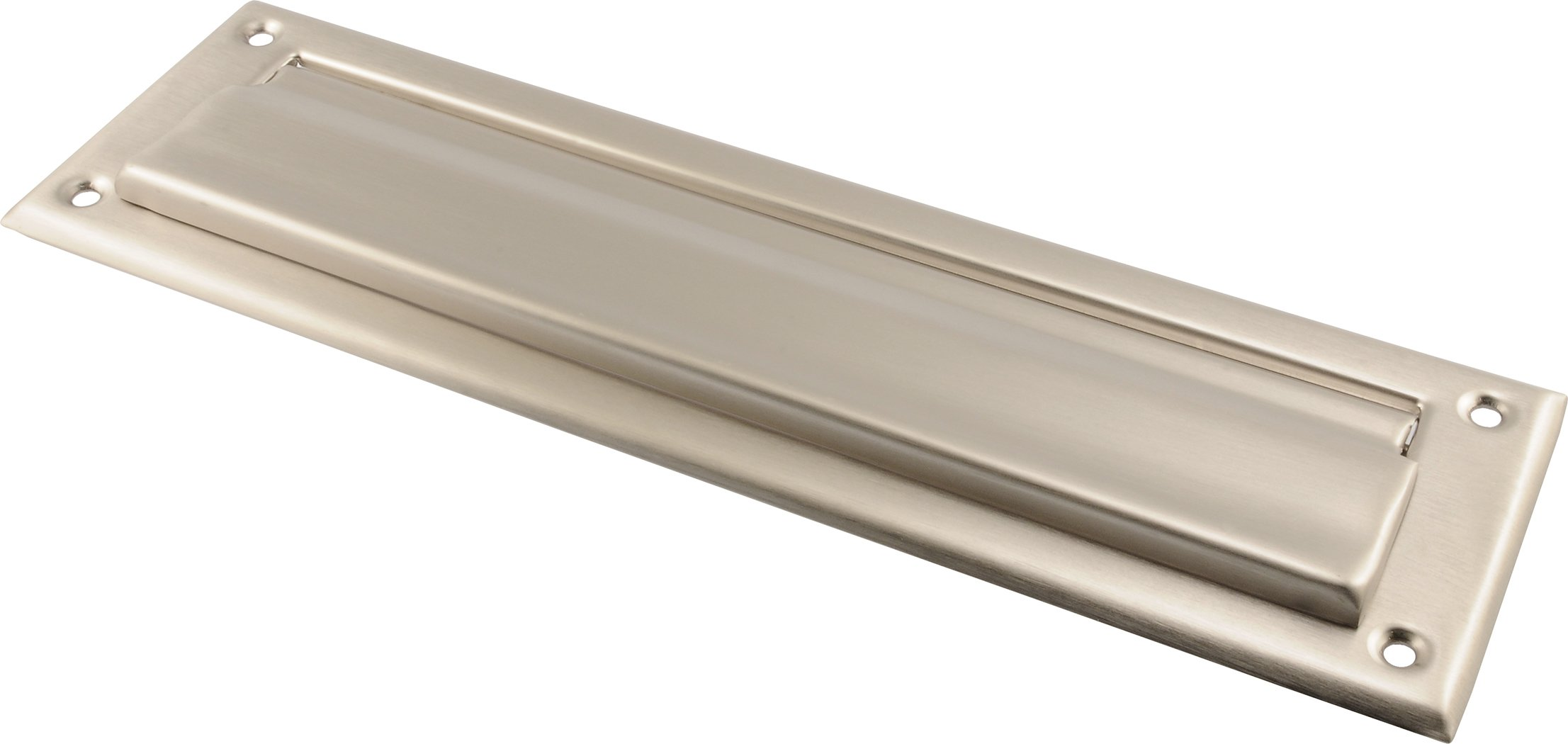 The Hillman Group The Hillman Group 853334 2 x 11'' Mail Slot- Solid Brass - Satin Nickel Finish 1-Pack