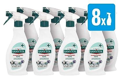 Sanytol - Spray Elimina Olores, para Textiles, Pack [ 8 x 500 ml]