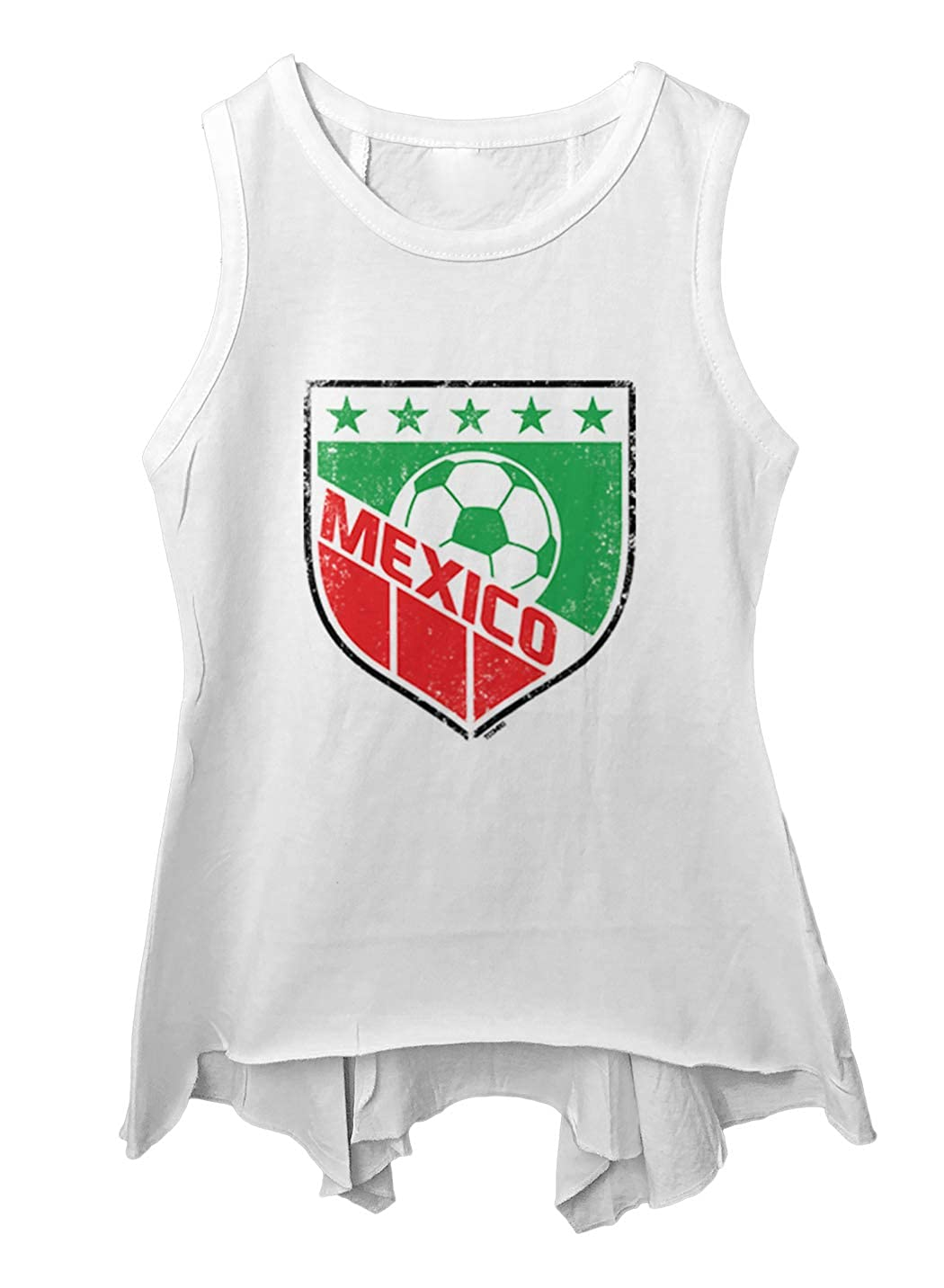 Tcombo Mexico Soccer Distressed Badge Toddler//Youth Sleeveless Backswing