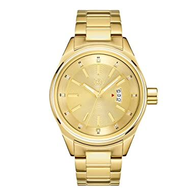 JBW Men s Rook J6287L Genuine Diamond Analog Display 18K Gold-Plated Stainless Steel Watch