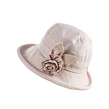 Forepin Ladies Bucket Hat Vintage Elegant Wide Brim  Amazon.co.uk   Electronics 540134aa58a