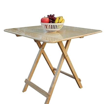 Mesas de comedor Mesa de comedor plegable de madera maciza mesa de comedor de exterior simple