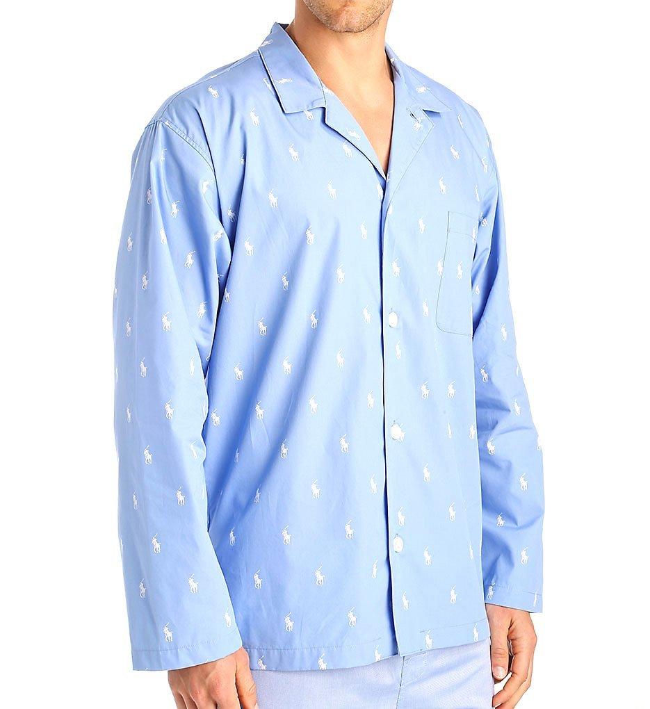 Polo Ralph Lauren Polo Play Print 100% Cotton Sleep Top (L008) M/Beach Blue