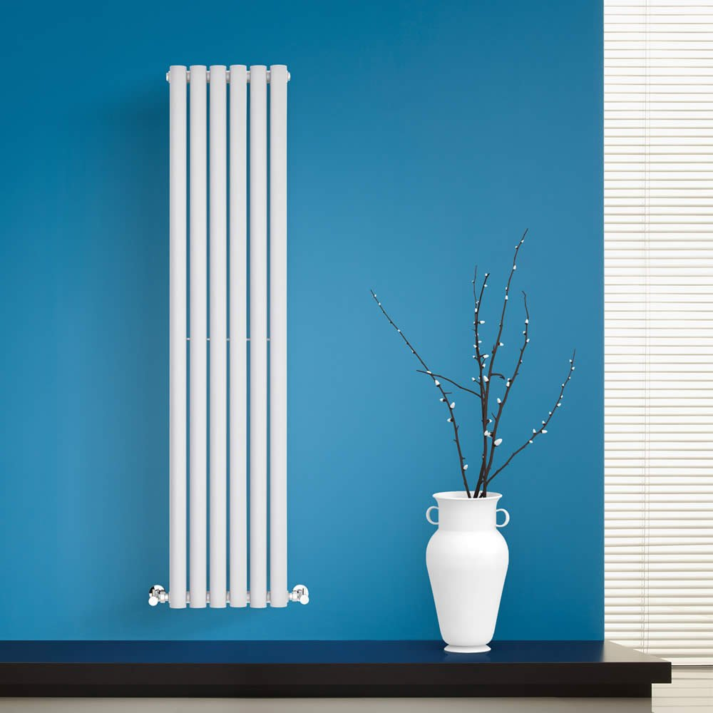 BestBathrooms White Vertical Designer Radiator - 1400 x 354 mm ...
