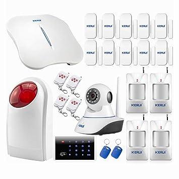KERUI - W1 WIFI Kit Alarme de Maison sans fil RTC   PSTN Sirène Extérieure - d51c3cc99706