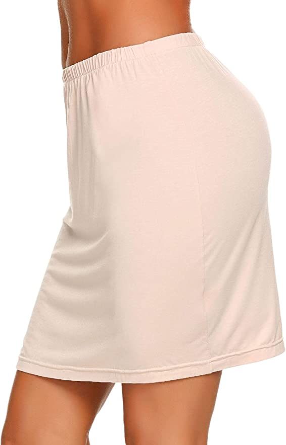 ADOME Damen Rock Unterrock Lingerie Halbrock Unterkleid Einfarbig Vintage Elastische Underskirt Nachtkleid Unterkleid Nachthemd