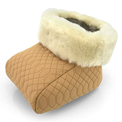 Chauffe-pied peau de mouton beige natur