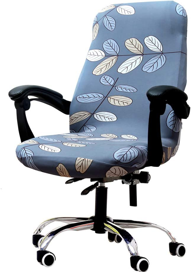 Deisy Dee Computer Office Chair Covers for Stretch Rotating Mid Back Chair Slipcovers Cover ONLY Chair Covers C162 (H)