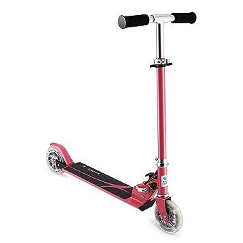 Scooter para niños, Patinete OUTAD Patinete scooter plegable con altura ajustable y Deluxe PU Ruedas Brillantes perfecto para Niños, Rojo
