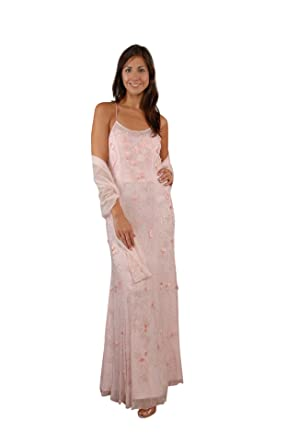 The Evening Store Pick Gown & Shawl (Small, Pink)