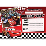 CARS 3 CHILDRENS BIRTHDAY PARTY INVITES INVITATIONS X 10 PACK