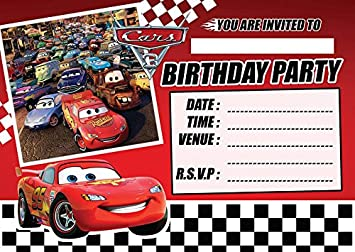 Cars 3 Childrens Birthday Party Invites Invitations X 10 Pack Invitation Marvelous Free Printable Disney
