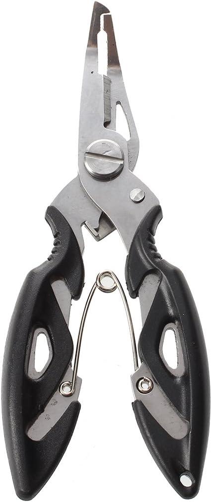 Tiamu 12.5cm alicates Tijeras de Pesca del Acero Inoxidable Cortador Gancho Linea Tackle Retire Herramienta