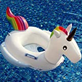 Kids Pool Float,  Inflatable Unicorn Float Water Raft Swim Ring Baby Seat Boat Summer Outdoor Swimming Pool Party Toys for Kids/Children