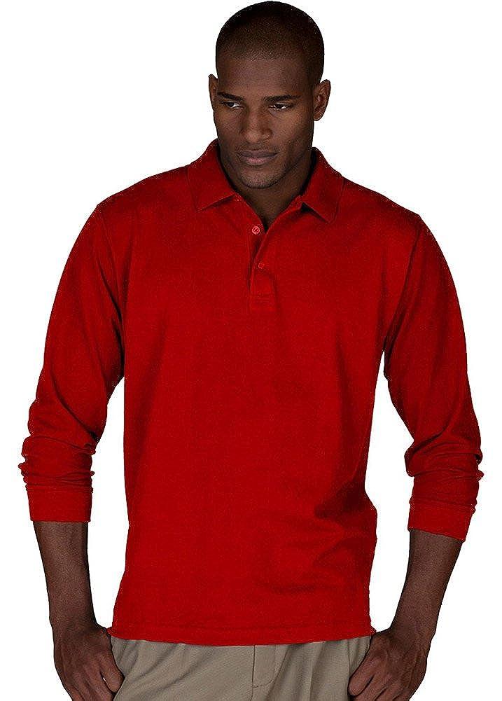 Edwards Mens Long Sleeve Pique Polo No Pocket