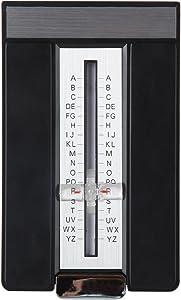 Home-X Retro Style Flip Open A-Z Address Book. Black and Silver Finish
