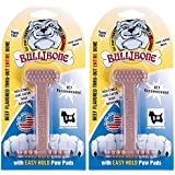 Bullibone Nylon Dog Chew Toy Small Nylon Bone - Improves Dental Hygiene, Easy to Grip Bottom, and Permeated with Flavor (2-Pack, Beef)