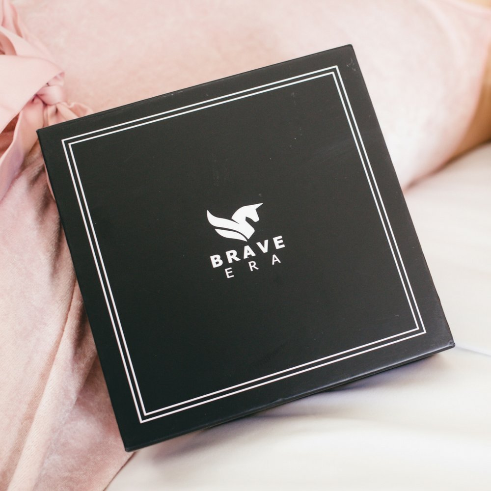 100% Silk Hypoallergenic Sleep Mask with Compact Travel Pouch and Gift Box by Brave Era (Raven Black) by Brave Era (Image #5)