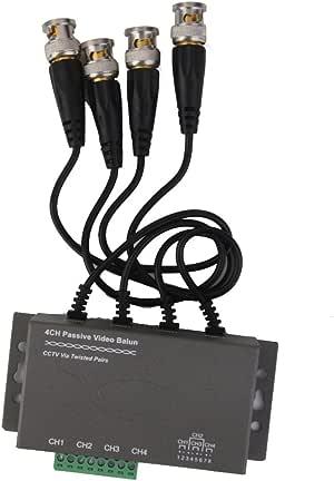 4 Canales De Vídeo Pasiva Video Balun Balun Transceptor BNC A UTP RJ45 Cable Coaxial: Amazon.es: Electrónica