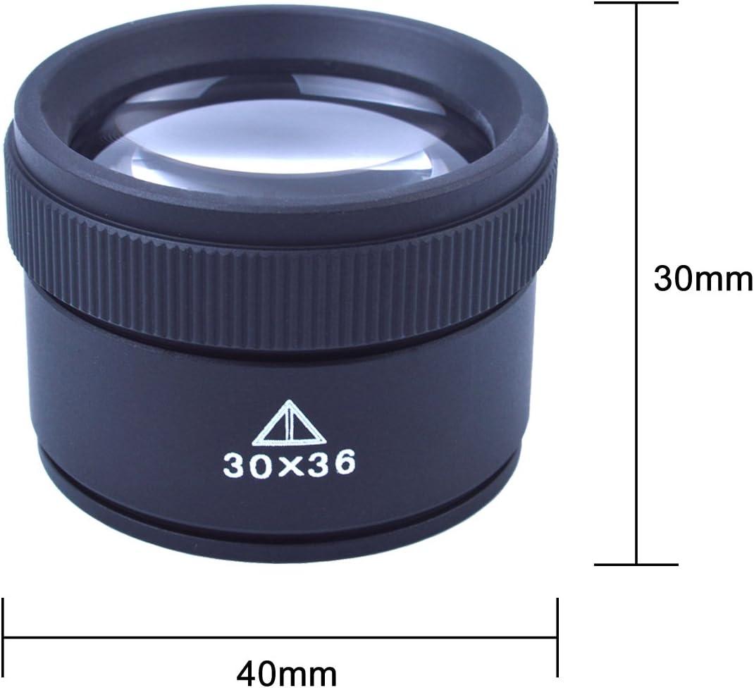Joyería Lupa Lupa de mano Lupa Microscopio 30X Lente 40mm