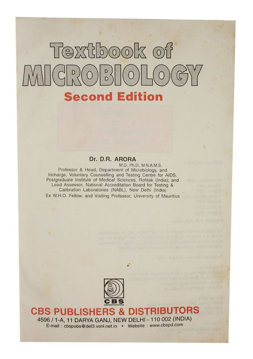 Buy Textbook of Microbiology Second Edition Hardbound Book Online at